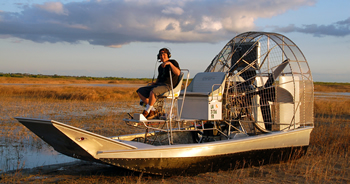 Camouflage Airboat